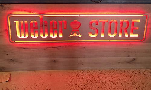 backlit signage