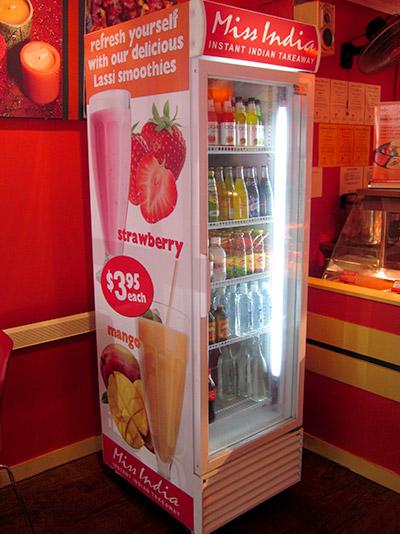 commercial fridge signage