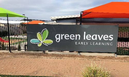 Green Leaves Fence ACM sign