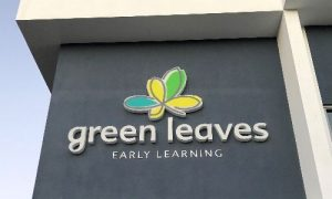 Green Leaves lighted signage