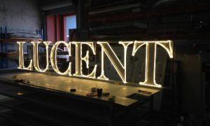 Lucent light up sign